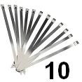 Cable Zip Tie, 300mm, Stainless Steel - 10 pack