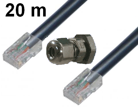 External CAT5 UTP - 20m Gland